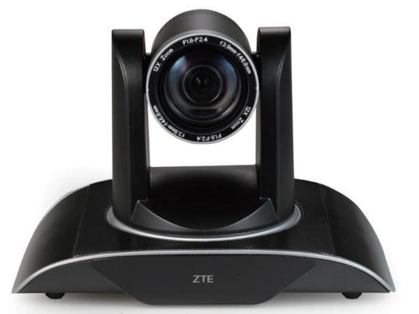中兴 ZXV10 V212AF 视频会议摄像机 采用 1/3 英寸,212 万有效像素的高品质 HD CMOS 传感器。内置有 12 倍光学变焦镜头,可方便拍摄会场特写