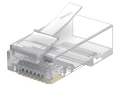 威迅IDB系列超五类非屏蔽水晶头 10 个威迅IDB系列超五类非屏蔽水晶头 50 个 威迅IDB系列超五类非屏蔽水晶头 100 个