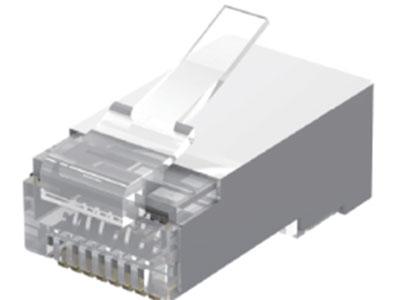 威迅IDC系列六类屏蔽水晶头 10个威迅IDC系列六类屏蔽水晶头 50个 威迅IDC系列六类屏蔽水晶头 100个