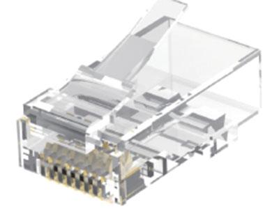 威迅IDD系列六类非屏蔽水晶头 10个威迅IDD系列六类非屏蔽水晶头 50个 威迅IDD系列六类非屏蔽水晶头 100个