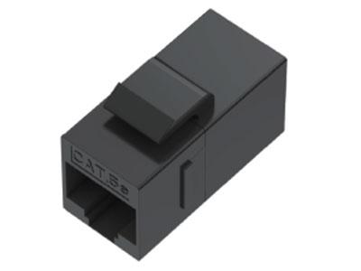 威迅  CAT5E对通非屏蔽模块黑色 版本CAT5E 接头护套ABS
