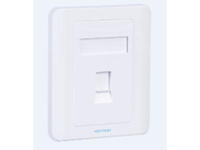 威迅  单口面板86型白色 接口数量1 外壳材质ABS