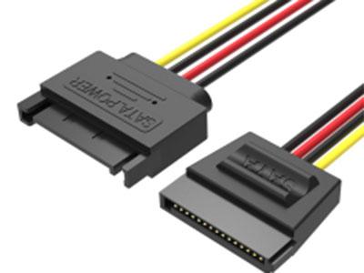 威迅KDA系列SATA15Pin硬盘延长线黑色0.3米 导体材质镀锡铜 插头材质PBT 线身PVC