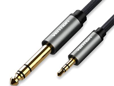 威迅BAI系列3.5mm对6.5mm尼龙网音频线 接头类型3.5mm公;6.5mm公 线径4.8mm 接口工艺镀金 导体高纯度铜芯 线规24AWG+23AWG 线身屏蔽铝箔 长度1 米 /1.5 米 /2 米 /3 米 /5 米/10 米