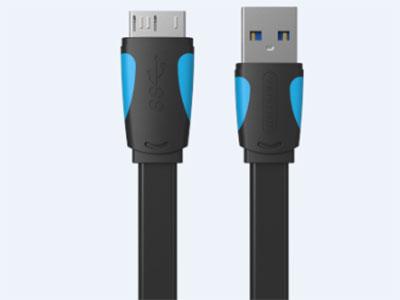 威迅  USB3.0移动硬盘线 版本USB3.0 接头类型USB母口,Micro充电插头 接口工艺镀镍 导体镀锡铜 线规30AWG+24AWG 屏蔽层铝箔 外被材质PVC