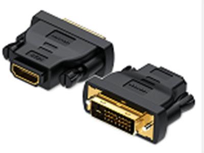 威迅  DVI公转HDMI母转接头黑色 版本类型:HDMI 1.4 接口类型;DVI(24 + 1)公,标准HDMI母 接口工艺:镀金 分辨率;1080P 传输方向;互转