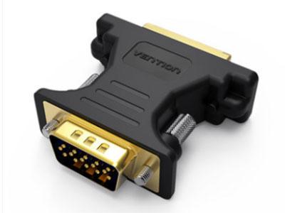 威迅  DVI母对VGA公头转接头 接口工艺镀金 外壳材料PVC 分辨率1920×1080@ 60Hz的 传输方向DVI输入,VGA输出 接口类型DVI(24+5)母,VGA公