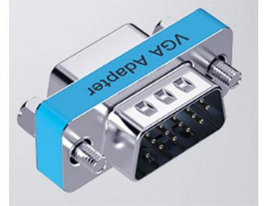 威迅  VGA公头转VGA母头转接头  接口工艺镀镍 外壳材料金属 分辨率1920×1080@ 60Hz 接口类型VGA母头,VGA公头,