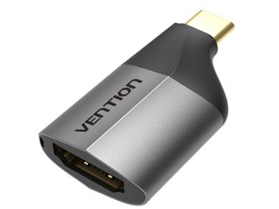 威迅TCA系列Type-C转HDMI转换头合金款黑色 外壳材质铝合金+ABS 接口类型Type-C公头,HDMI 母头 接口工艺镀金 转换方向Type-C转HDMI 接口版本HDMI 2.0