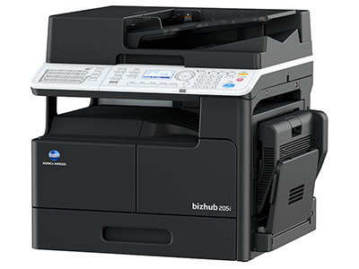美能达 205I 复印机 A3 20张,打印,复印,扫描,双面器,双面输稿器 网络