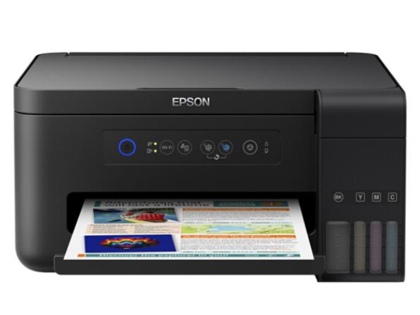 爱普生(EPSON)L4158墨仓式经济款 彩色无线多功能一体机(打印 复印 扫描 wifi)
