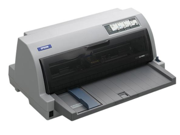 爱普生(EPSON)LQ-690K高速平推针式库房打印机打增值税专用发票机快递单收据连打106列A3