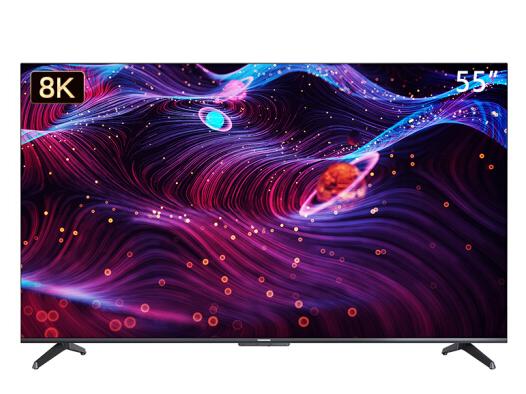 長虹 55D8K 55英寸全程真8K智慧屏 5+32GB ADS硬屏 光鼠觸控 遠場語音 全面屏教育 平板液晶電視機