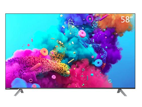 長虹58D5P 58英寸液晶電視機 超薄全面屏 遠場語音 2+16GB AIoT物聯 人工智能 4K HDR 教育電視