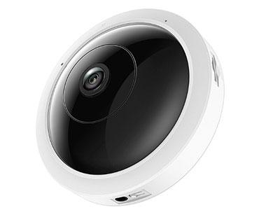 """TPLINK  TL-IPC55AE """"采用鱼眼镜头,水平、垂直可视角度均为180°;360°全景监视;支持四分屏、180°全景、360°全景等多种预览方式 移动侦测、推送报警、双向语音,支持网口,支持POE供电;支持WIFI热点"""""""