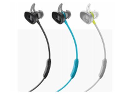 Bose SoundSport wireless headphones运动 版无线耳机 1、StayHear+鲨鱼鳍耳塞,舒适稳固; 2、蓝牙和NFC功能无线连接; 3、防汗水,防腐蚀; 4、6小时的续航时间