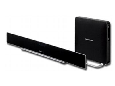 "SABRE35 CN 无线回音壁电视音箱 条形音响扬声器: 6个45mm ( 1.75"" )中频扬声器和4个25mm(1"" )球面高音 扬声器 条形音响功放功率: 4 x 20w+4 x 15W 无线低音炮功放功率: 100W 系统频率响应: 43Hz 22kHz 尺寸(高x宽x长)和重量条形音响: 110mm x 1150mm X 32mm; 2.6kg(x lb) 低音炮: 460mm X 390mm x 86mm ;"