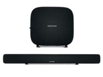OMNI BAR+ 无线家庭影院音响3.1套装 条形音响扬声器: 6个45mm (1.75寸) 中频扬声器和4个25mm (1寸球面 高频扬声器) 条形音响功放功率: 4x20W+4x15W 无线低音炮功放功率: 100W 系统频率响应: 43Hz-22KHz 尺寸(高x宽x长) -条形音响: 110mmx1 150mmx32mm 重量-条形音响: 2.6kg 尺寸(高x宽x长) -低音炮: