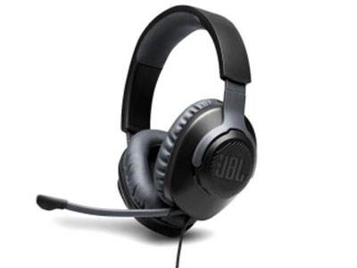 JBL QUANTUM 100 JBL Quantum SOUND标志性游戏音效, 虚拟7.1 有线,电脑带麦耳机,游戏电竞耳机 可拆卸指向性麦克风 40mm订制驱动单元 3.5mm接口