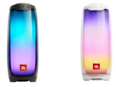 JBL Pulse4 音乐脉动4 蓝牙,全面屏灯光秀,功率20W 360°音效 APP灯光秀 7260毫安电池,12小时播放时间 IPX7级防水 下沉低音与置顶扬声器,360度立体环绕 声 Type-c充电接口,更快更稳定 全新PartyBoost无线串联功能
