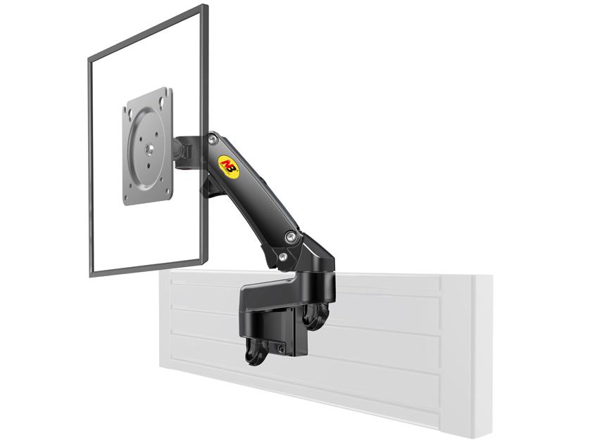 NB-M150 屏风式显示器支架,适用尺寸17-27寸,航空铝材加工程塑料,二代气压弹簧,上下左右360度旋转,臂长395cm,卡装,承重2-7KG