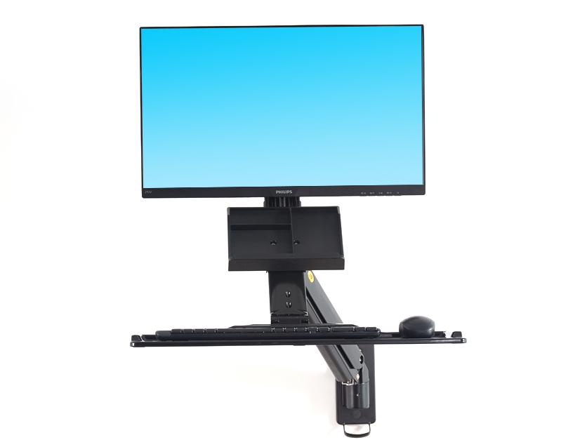 NB-FC32工业显示器壁挂支架,适用尺寸22-35寸,航空铝材加工程塑料,二代气压弹簧,上下左右旋转,臂长1010mm,安装方式壁挂,承重3-9KG