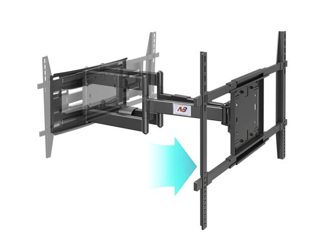 NB-SP5 电视伸缩壁挂支架(50-90英寸)伸缩110-708MM,承重90KG,最大孔距800*500