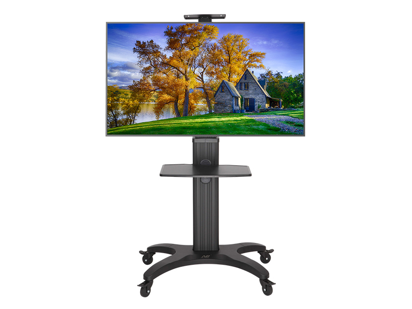 NB-AVF1500-50-1P电视移动,视频会议推车,适用尺寸32-65寸,升降高度1050-1500MM,承重45.5KG,最大孔距600*400