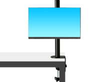 科鸥KO-T02夹式单屏显示器支架 适用尺寸:10-30寸 材质:冷轧钢板  最大孔距:100*100  单承重:10KG  高度:420mm