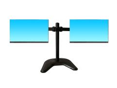 科鸥KO-D2D 底座双屏显示器支架 适用尺寸:10-30寸 材质:冷轧钢板  最大孔距:100*100  单承重:10KG  高度:420mm