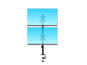 科鸥KO-T2C 夹式上下双屏显示器支架 适用尺寸:10-30寸 材质:冷轧钢板  最大孔距:100*100  单承重:10KG  高度:790mm