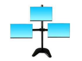 科鸥KO-D2T底座三屏显示器支架 适用尺寸:10-30寸 材质:冷轧钢板  最大孔距:100*100  单承重:10KG  高度:790mm