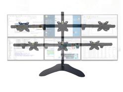 科鸥KO-D2S 底座六屏显示器支架 适用尺寸:10-30寸 材质:冷轧钢板+铝合金  最大孔距:100*100  单承重:10KG  高度:840mm