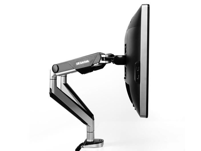 乐歌D8D显示器双屏支架,适用尺寸17-32寸,航空铝材加工程塑料,二代气压弹簧,上下左右360度旋转,臂长620cm,安装方法穿孔+加式,承重2-9KG,带USB
