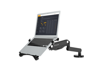乐歌Q5F笔记本支架 多功能升降工学气压架 ,全新升级加强,承重4KG,铝合金打造,加粗手臂支撑更稳固,气弹簧工艺