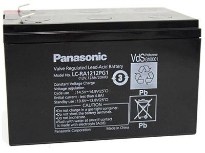 松下蓄电池LC-PA1212太阳能风力消防主机直流屏电梯12V12AH免维护蓄电池