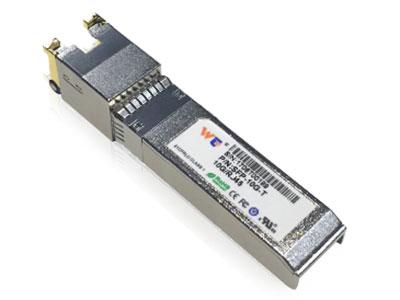 源拓  SFP+-10GBASE-T 10G电口模块 l  支持10 GBase-T/5Gbase-T/2.5Gbase-T/1000BASE-T  l  热插拔  l  紧凑型RJ-45连接器组件  l  符合RoHS要求的无铅  l 单电源+3.3V  l 基于Cat 6a电缆的10千兆以太网  l环境工作温度:0°C至+60°C