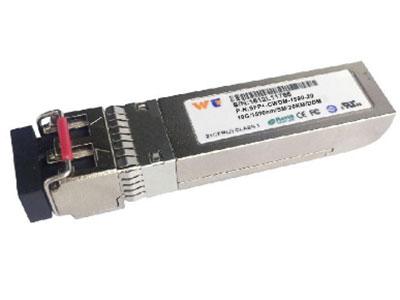 源拓 WT-SFP+-10G-CWDM-DML-20 km   SFP+光模块 l 热插拔sfp+足迹  l 支座向上到10.312GB/s比特率  l 功耗