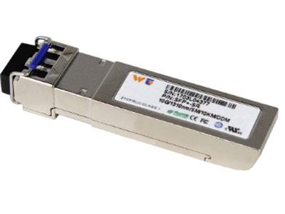 源拓 WT-XFP-SR  Xfp光模块 l 支持9.95Gb/s至11.3Gb/s比特率  l 热插拔XFP足迹  l 850 nm VCSEL激光器与PIN光电探测器  l  可达300米SMF传输  l 功耗