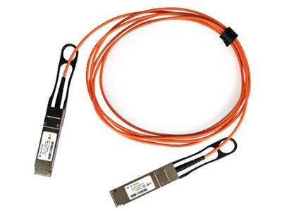 源拓  WT-QSFP+-AOC  AOC有源光缆 l 四通道全双工有源光缆  l 传输数据速率可达11.3每通道Gbit/s  l 多路可靠VCSEL阵列技术-模光纤  l 可用标准长度 3,5,10,15,20,30,50一千亿米  l 低功耗