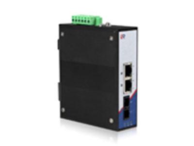 源拓  RS203-1F2T、RS203L-1F2T  3口百兆非网管导轨式工业级收发器