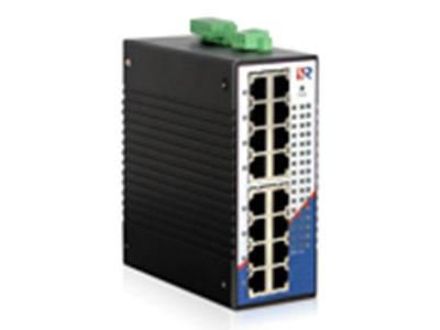 源拓 RS2016L-16T  16电口百兆非网管型导轨式工业以太网交换机