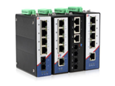 源拓  RS205百兆系列  5口百兆非网管型导轨式工业以太网交换机