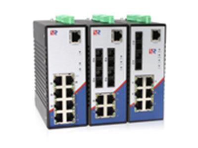 源拓  RS608百兆系列  8口百兆网管型环网工业交换机