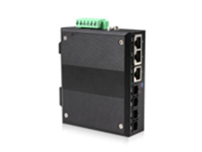 源拓  RS605-2F3T  5口百兆网管环网导轨式工业交换机