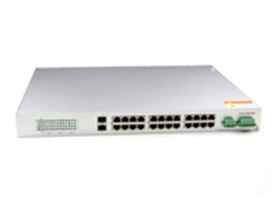 源拓  CM6026-2GF24T  24+2口千兆网管型二层机架式工业交换机
