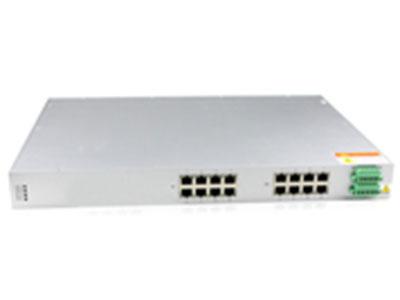 源拓  CM6016-16T、CM6016-8F8T  16口百兆网管型二层机架式工业交换机