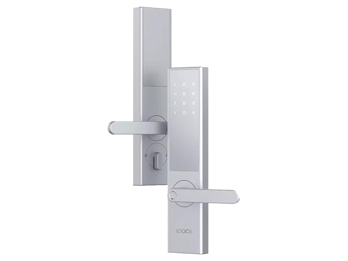 鹿客智能指纹锁Classic 银色 半导体指纹识别,隐藏式指纹设计,强大防破能力