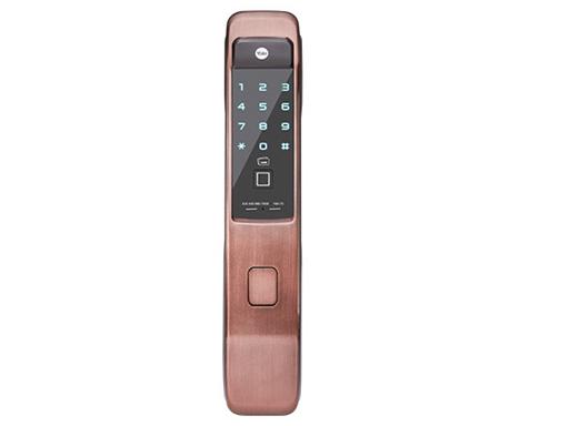 耶鲁电子锁 YMI70 指纹 智能卡 触屏式密码 机械钥匙 蓝牙遥控