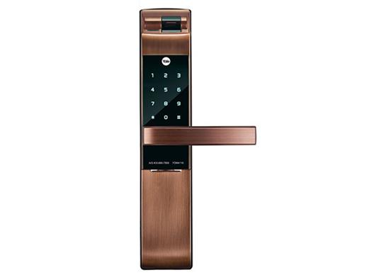 耶鲁电子锁 YDM4116 指纹 触屏式密码 机械钥匙 蓝牙遥控